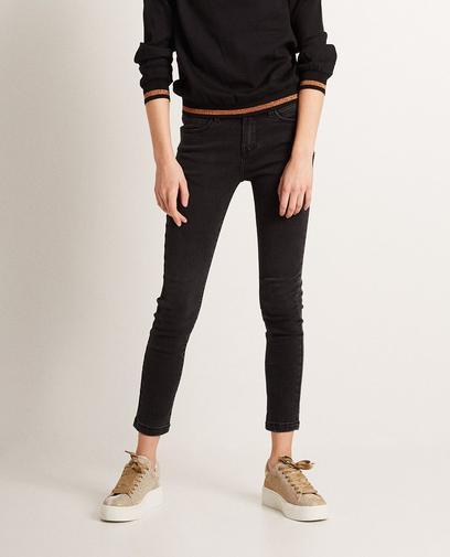 Donkergrijze skinny jeans